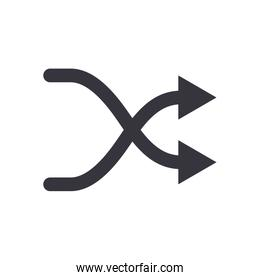 Random arrow or intersection direction flat style icon vector design