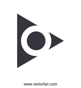 Next arrow with circle or right direction flat style icon vector design