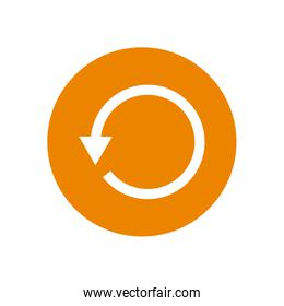 Before arrow or left direction block style icon vector design