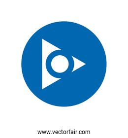 Next arrow with circle or right direction block style icon vector design
