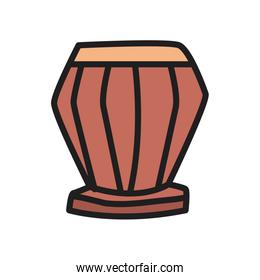 Drum instrument fill style icon vector design