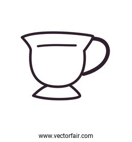 Indian tea cup line style icon vector design