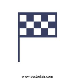 Racing flag  silhouette  style icon vector design