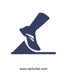 running foot  silhouette  style icon vector design