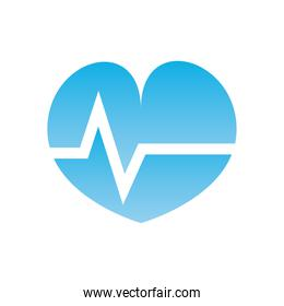 Isolated heart pulse  gradient  style icon vector design