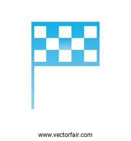 Racing flag  gradient  style icon vector design