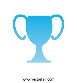 Isolated trophy  gradient  style icon vector design