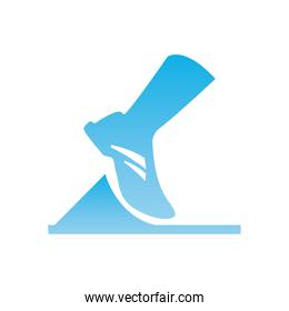 running foot  gradient  style icon vector design