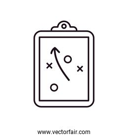 Soccer strategy line style icon vector design