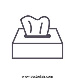 tissues box line style icon vector design