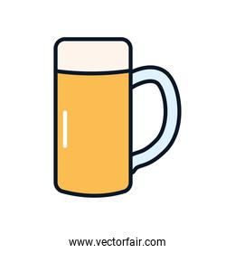 seidel beer mug icon, line and fill style