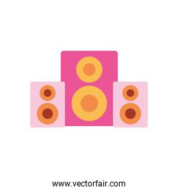sound loudspeakers icon, flat style
