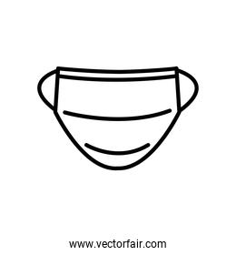 medical mouth mask icon, line style
