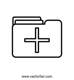medical report folder icon, line style