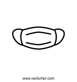 mouth mask icon, line style
