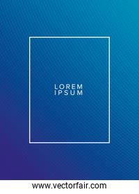 Blue gradient background with frame vector design