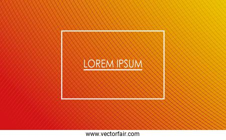 orange and red gradient background with frame vector design