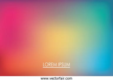 Colorful gradient background with place for text vector design