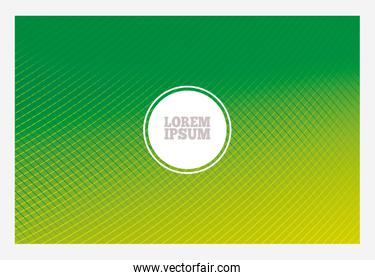 Green gradient background with frame and circle vector design