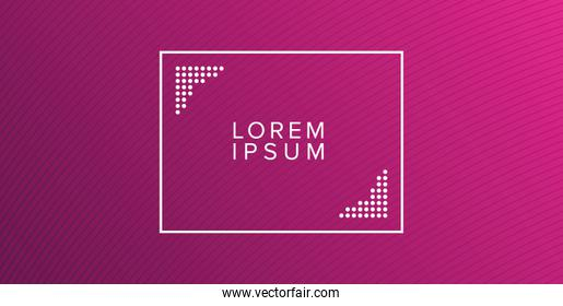 purple gradient background with frame vector design