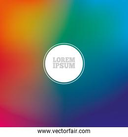 Colorful gradient background with circle vector design