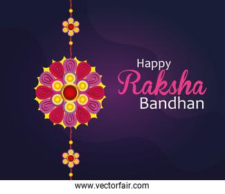 greeting card with decorative rakhi for raksha bandhan, indian festival for brother and sister bonding celebration, the binding relationship