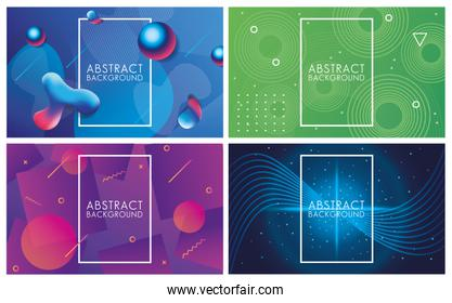 vivid colors and fluids set of abstract backgrounds