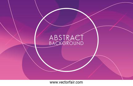 vivid colors and fluids with circular frame abstract background