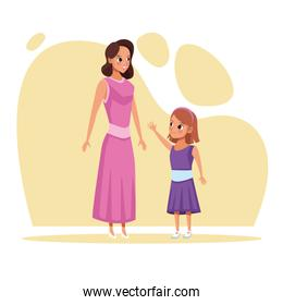 mother and daughter Stay at Home campaign