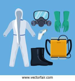 biosafety equipment elements for covid19 protection