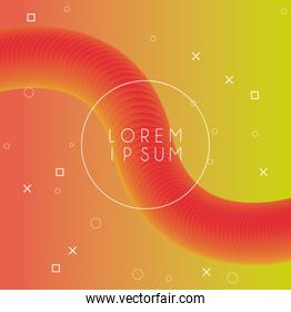 vibrant colors and dinamic background with circular frame