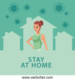young mother stay at home campaign