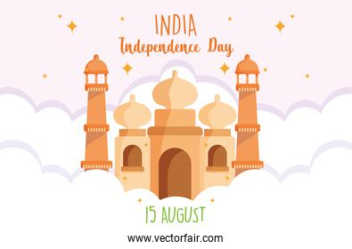 happy independence day india, 15th august celebration taj mahal