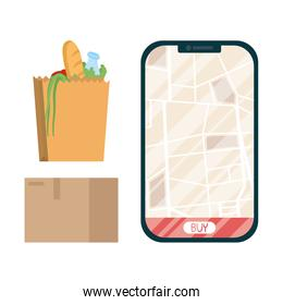 smartphone with Safe food delivery application