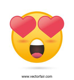 lovely emoji with hearts eyes  face funny character