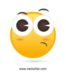 emoji face Thoughtful funny character