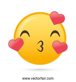 lovely emoji face funny character