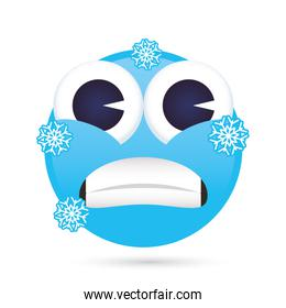 emoji face frozen funny isolated icon
