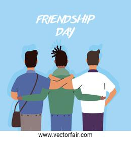 young interracial boys characters in Friendship day celebration