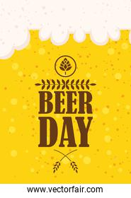 Beer day celebration event with jar