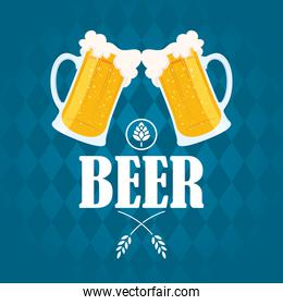 Beer day celebration event with jars