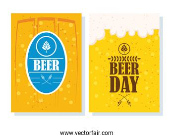 Beer day celebration event with seal stamp