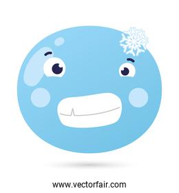 emoji face frozen funny character