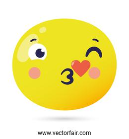 emoji face lovely funny isolated icon