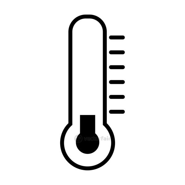 temperature thermometer icon, line style