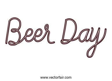 Beer day text lettering