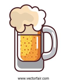 Beer glass icon vector design