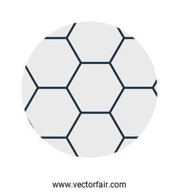 soccer ball flat style icon vector design