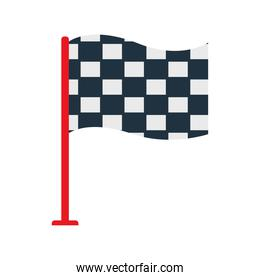 Racing flag flat style icon vector design