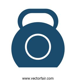 gym weight flat style icon vector